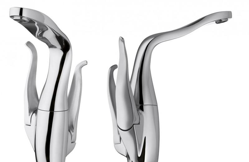 ALESSI Swan HANSA - новый смеситель лебедь в ультра современном стиле