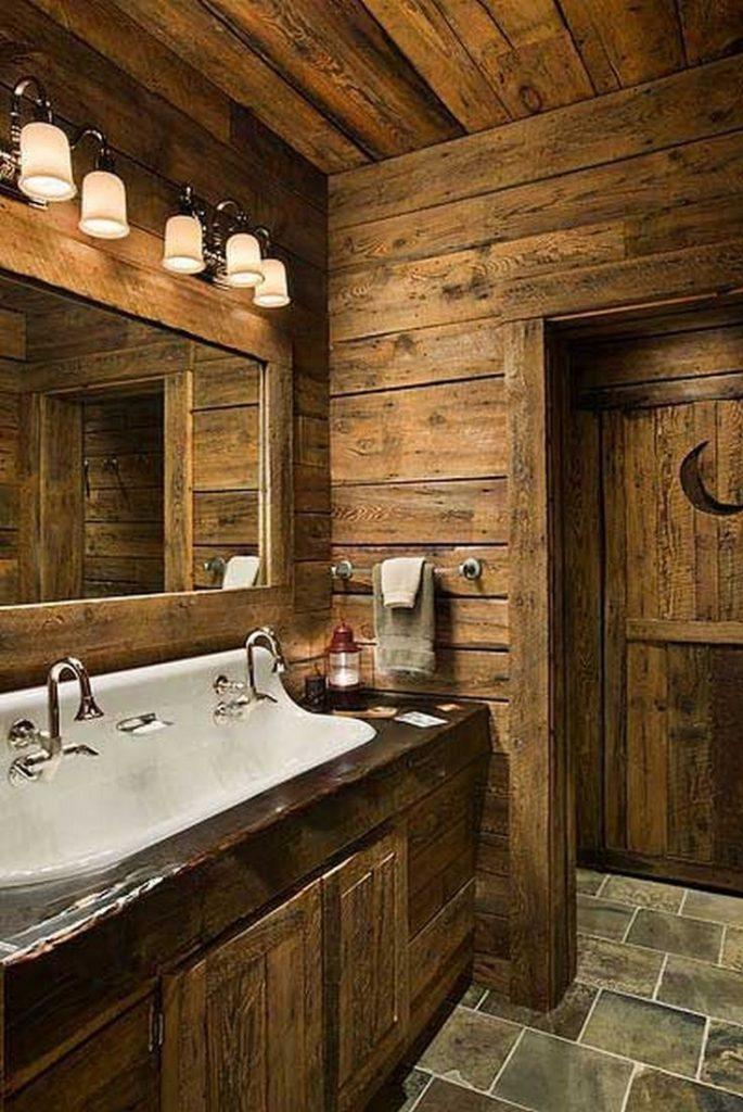 ванная комната в стиле рустик