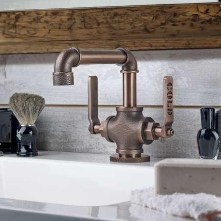 смесители и сантехника для ванной комнаты в стиле рустик