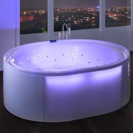 Ergo+ Hoesch спа ванна из акрила овальная отдельностоящая с гидро и аэромассажем (или без) 200х160