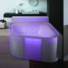 Ergo+ Hoesch ванна из акрила угловая 164х164 встраиваемая или отдельностоящая с гидро и аэромассажем (или без) 175х175