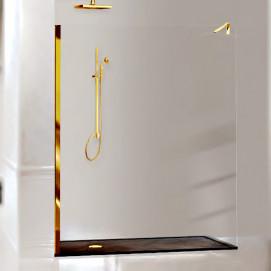 Open Air Box Docce 2B стеклянная душевая стенка для угла, классик, фурнитура хром, золото, стекло прозрачное, тонированное, с декором и/или сваровски