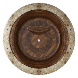 Круглая ванна из дерева Corona Ammonitum