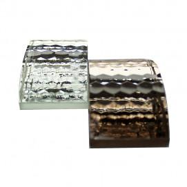 Мозаика из хрусталя для стен (хрустальная мозаика) ручной огранки, с зеркальной подложкой (платина, золото, бронза)