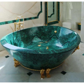 Baldi ванна и раковина из малахита