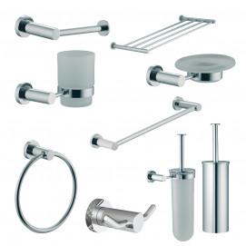 Quadra Fima Carlo Frattini аксессуары квадратной формы для ванной в современном стиле хром, никель, золото, бронза, белый, черный, медь
