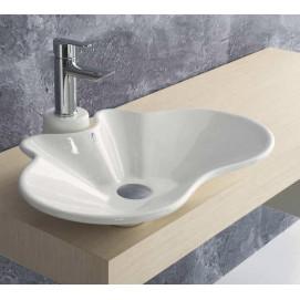 Fly Ala Ceramica раковина накладная дизайнерская нестандартной формы 60х40 100х40 см