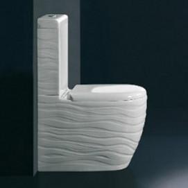 """В НАЛИЧИИ! WAVE Ceramica ALA унитаз с бачком с фактурным фасадом """"волны"""""""