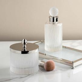 Bambou аксессуары для ванной из матового хрусталя с фактурой бамбук Cristal et Bronze