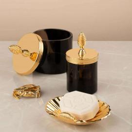 Obsidienne CISELE Cristal et Bronze элитные аксессуары классика для ванной и дома обсидиан