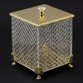 30203 Prestige корзина для мусора с крышкой Cristal et Bronze