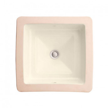 Pop Petite Square DVX раковина под столешницу квадратная, классика 32х32 см, санфарфор, премиум, белая, кремовая