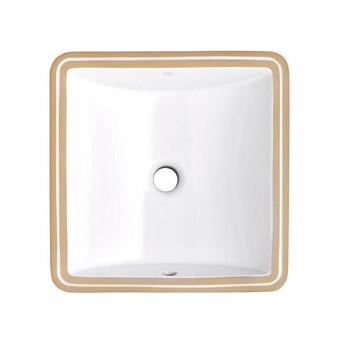 Webster DXV раковина квадратная 40х40 (34х34) см встраиваемая под столешницу, классика, керамика белая, премиум