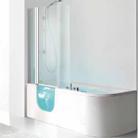 For All Box Hafro комбинированная ванна с дверцей прямоугольная с гидромассажем или без него 180х80