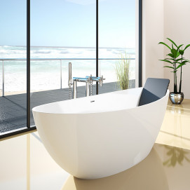 Namur Hoesch ванна свободностоящая из минерального литья овальная 150х70 170х75 180х80 180х90 190х90