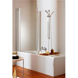 2х-панельная шторка Huppe для ванной с закруглённым сегментом
