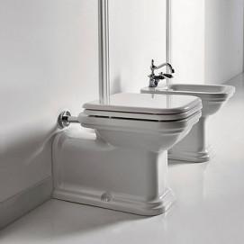 Waldorf Kerasan биде и унитаз удлиненный напольный (пристенный) классика белый или черный