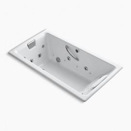 Tea-for-Two Встраиваемая ванна 167см чугунная Kohler с аэро- и гидромассажем белая, кремовая, серия, черная