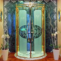 Diadema Lineatre полукруглая душевая кабина пристенная 1/2 круга 130х101 cм в классическом стиле