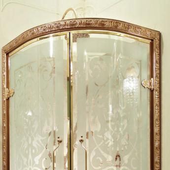 PRINCESS Lineatre Душевая кабина 1/4 круга 90х90 в классическом стиле, отделка хром, золото, бронза