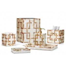 Parquet Labrazel элегантные аксессуары для ванной комнаты с отделкой перламутром
