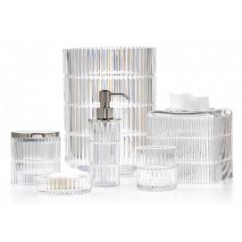 PRISMA CLEAR Labrazel хрустальные аксессуары для ванной из граненого стекла