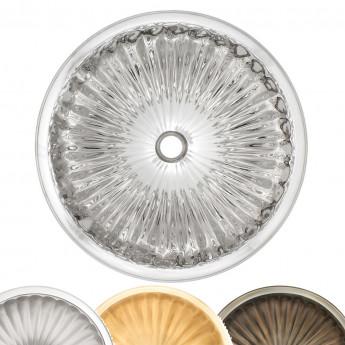 Round Fluted Linkasink раковина круглая из металла с ребристым дном 30 или 43см хром, бронза, золото, никель