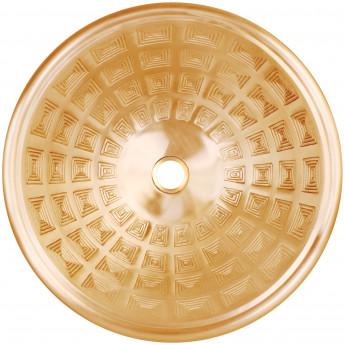 Round Pantheon Linkasink круглая встраиваемая раковина с фактурным рисунком кессоны