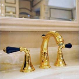 Adriatica Mestre смесители для ванной с ручками из черного кристалла сваровски