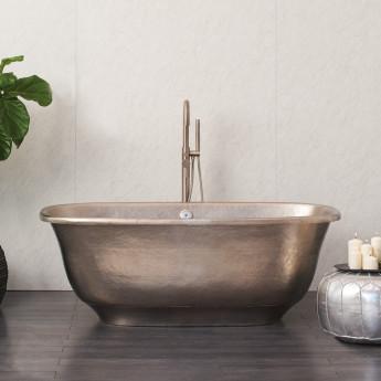 Santorini ванна из меди hand made в классическом стиле 170см античная или глянцевая медь, матовый никель