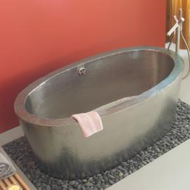 Медная ванна овальная в современном стиле Aspen в финише Antique Copper Античная медь или Brushed Nickel матовый никел