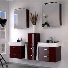 Комплект мебели Pelipal Arrondi, Бордовый лаковый, 600/300/600 мм