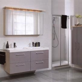 Комплект мебели Pelipal Berry, Стекло серебрянное, 1200/500 мм