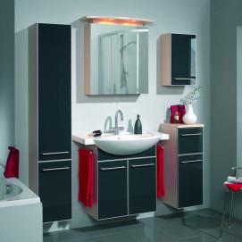 Комплект мебели Pelipal Berry, Стекло чёрное, 300/850/300 мм