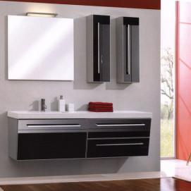 Комплект мебели Pelipal Oblique, Стекло чёрное, 1690 мм