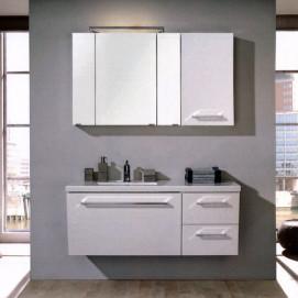 Комплект мебели Pelipal Oblique, Белый лаковый высокоглянцевый, 1280 мм