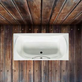 232570 Akira Roca Прямоугольная чугунная ванна с противоскользящим покрытием и ручками