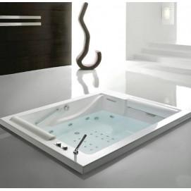 Bis Gruppo treesse квадратная ванна из акрила встраиваемая с гидромассажем 190х150 см