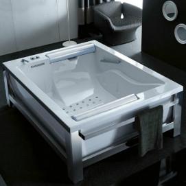 Bis One Steel Gruppo treesse акриловаая ванна с г/м отдельностоящая 202х150x65 см, с внешним каркасом из стали