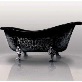 Epoca ванна Gruppo treesse черная ванна на ножках