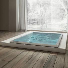 Fusion 230 Treesse спа-ванна из акрила 230х180 с аэро гидромассажем и хромотерапией белая, черная