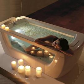 Vision Gruppo treesse ванна отдельностоящая со стеклянными вставками в борта