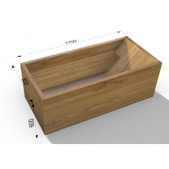 В НАЛИЧИИ дизайнерская деревянная ванна 170х80 см