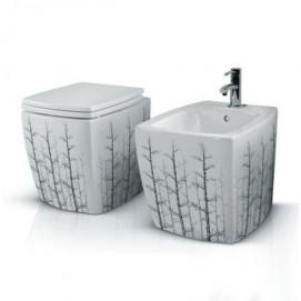 Униз и биде с декором лес (деревья) AET