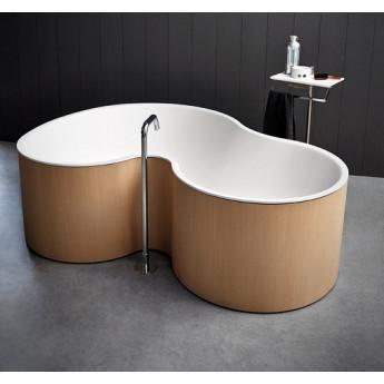 Agape DR ванна свободностоящая асимметричная из минерального литья