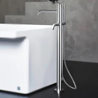 Square Agape смеситель для ванны напольный с ручным душем