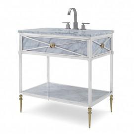 Консоль для ванной в стиле ампир со столешницей из мрамора Ambella Napoleon Petite Sink Chest