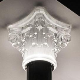 капитель из литого стекла или хрусталя на заказ