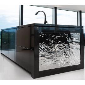 Мебельные фасады из литого стекла и/или зеркала с фактурой на заказ