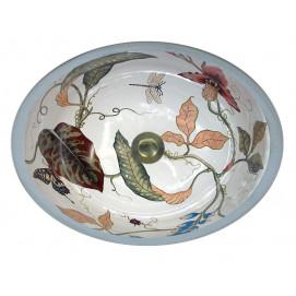 AP-1420 Royal Garden раковина с рисунком королевский сад Atlantis Porcelain Art